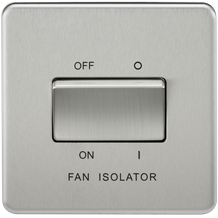 SF1100BC Screwless 10AX 3 Pole Fan Isolator Switch - Brushed Chrome