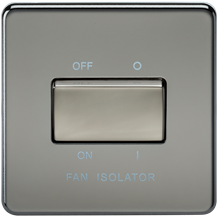 SF1100BN Screwless 10AX 3 Pole Fan Isolator Switch - Black Nickel