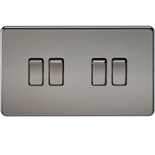Screwless 10A 4G 2-Way Switch - Black Nickel