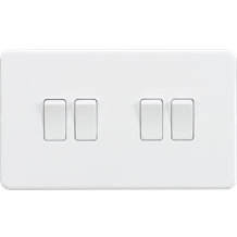 Screwless 10A 4G 2-Way Switch - Matt White