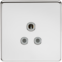 SF5APCG Screwless 5A Unswitched Socket - Polished Chrome with Grey Insert