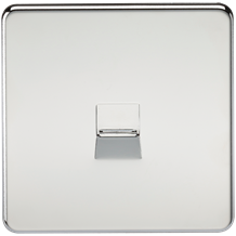SF7400PC Screwless Telephone Extension Socket - Polished Chrome