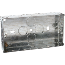 2G 25mm Galvanised Steel Box with one adjustable lug and one brass terminal