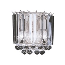 Sigma Chrome 2 Light Wall Bracket With Clear Crystal Prisms & Balls