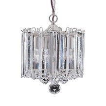 Sigma Chrome 3 Light Fitting With Clear Crystal Prisms & Balls