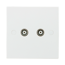 Twin Coax TV Outlet (non-isolated)