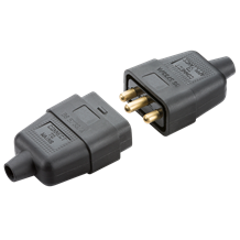 SN2121B 10A 3 pin mains connector - black