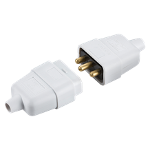 SN2121W 10A 3 pin mains connector - white
