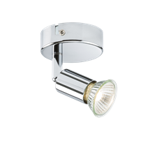 230V GU10 50W Chrome Single Adjustable Spotlight