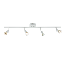 230V GU10 4 x 50W White Quad Adjustable Spotlight Bar