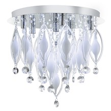 Spindle Chrome 6 Led Fitting With Coloured Glass & Remote Control