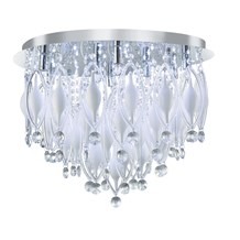 Spindle Chrome 9 Led Fitting With Coloured Glass & Remote Control
