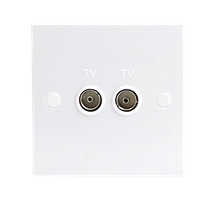 1G Twin TV Outlet (unisolated)