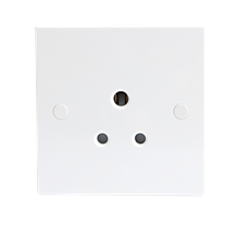 5A Round Pin Unswitched Socket