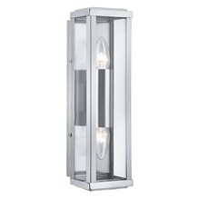 Stainless Steel Ip44 2 Light Outdoor Light With Clear Glass