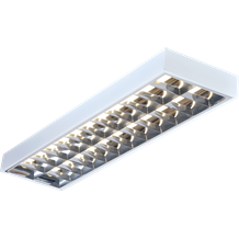 IP20 2x36W 4ft T8 Surface Mounted Fluorescent Fitting 1220x305x80mm