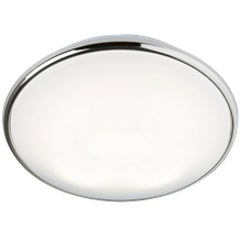 IP20 28W 2D HF Emergency Bulkhead with Opal Diffuser and Chrome Base
