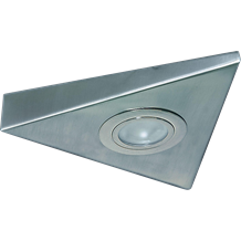 Triangular Under Cabinet Fitting 1m Cable Brushed Chrome