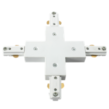 230v  Single Circuit Track connector  x white