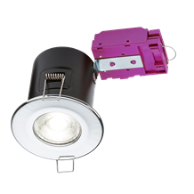 230V Fixed GU10 Fire-Rated Downlight Chrome