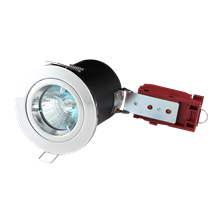 Fire-Rated Die-Cast LV Downlight 50mm Chrome