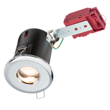 230V IP65 GU10 IC Fire-Rated Shower Downlight Chrome