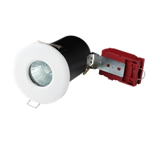 230V IP65 Fire-Rated Low Energy Shower Downlight White