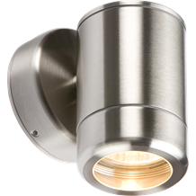 WALL1 230V IP65 Stainless Steel Single Fixed GU10 35W Fitting