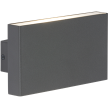 WSM16A 230V IP54 2x8W Up/Down LED Wall Light - Anthracite