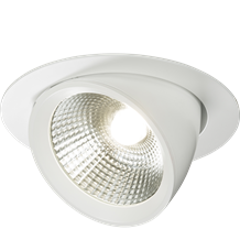 WW40C 230V 40W Round LED Recessed Adjustable Downlight