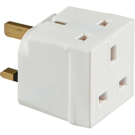 1350 13A 2-Way Mains Unfused Adaptor