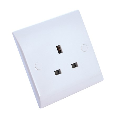 13Amp Single Socket Unswitched