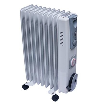 2kW Oil Filled Radiator 1/2kW with Thermostat & Timer