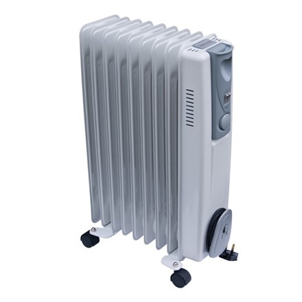 2kW Oil Filled Radiator 1/2kW with Thermostat