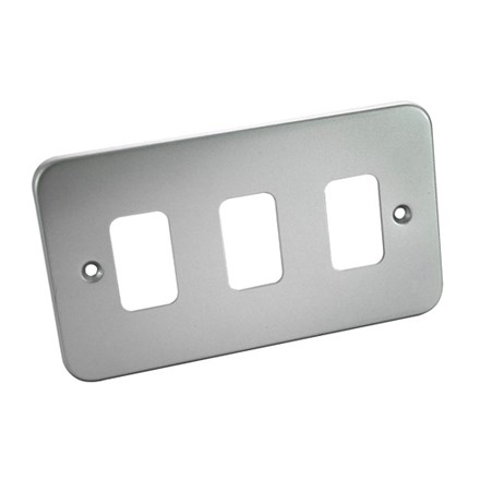 3 Gang Metal Clad Front Plate