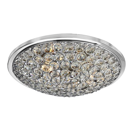 CHANTILLY - 3LT CHROME FLUSH/CLEAR CRYSTAL BUTTONS
