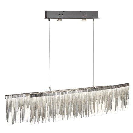 MEMPHIS LED CEILING BAR, SATIN SILVER, CHAIN LINK WATERFALL DRESSING
