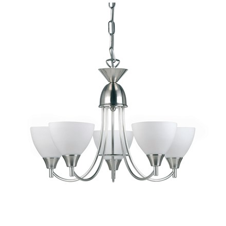 Alton Satin Chrome 5lt pendant 60W Endon 1805-5SC