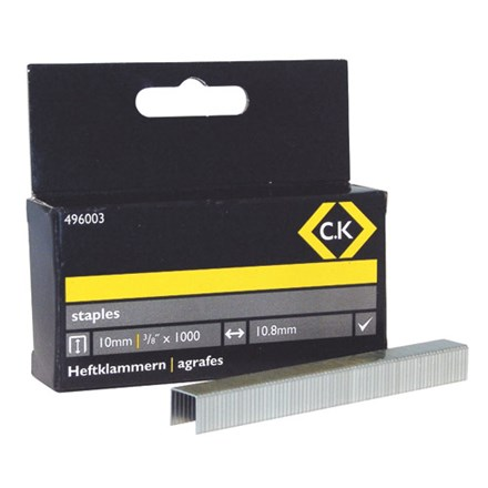 C.K Staples 10.5mm wide x 10mm deep Box Of 1000