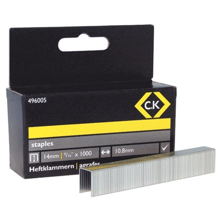 C.K Staples 10.5mm wide x 14mm deep Box Of 1000