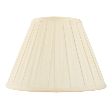 Carla Tapered Cream Pleated Fabric 16 inch Shade Endon CARLA-16