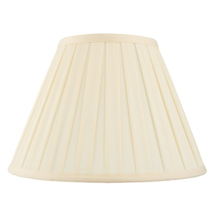 Carla Tapered Cream Pleated Fabric 6 inch Shade Endon CARLA-6