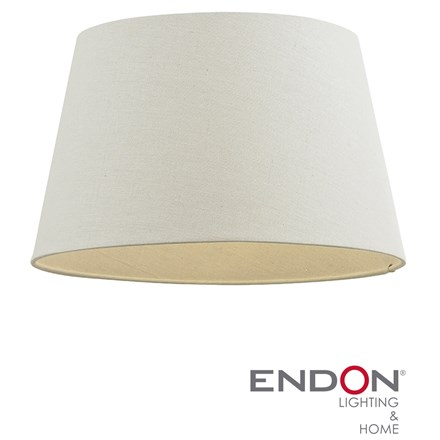 Cici Ivory Linen Effect Fabric Tapered 14 inch Shade Endon CICI-14IV