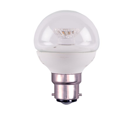 4W LED 45mm Dimmable Round Ball Clear - BC, 2700K