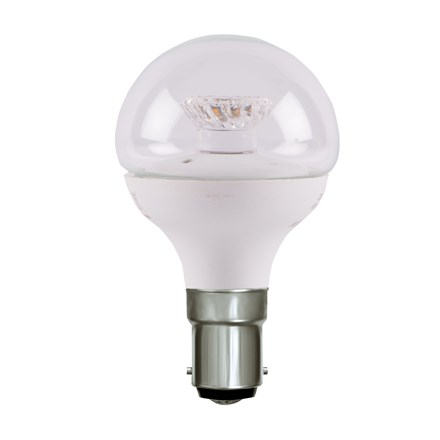 4W LED 45mm Dimmable Round Ball Clear - SBC, 4000K