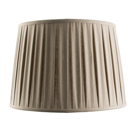 Cleo Beige Tapered Pleated Linen Fabric 16 inch Shade Endon 61354
