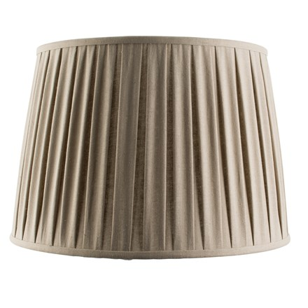 Cleo Beige Tapered Pleated Linen Fabric 18 inch Shade Endon 61357