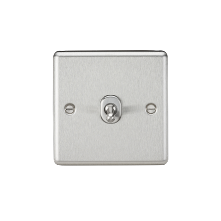 CLTOG12BC 10AX 1G Intermediate Toggle Switch - Rounded Edge Brushed Chrome