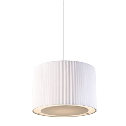 Colette White Pleated Shade Non Electric 60W Endon COLETTE-S-WH
