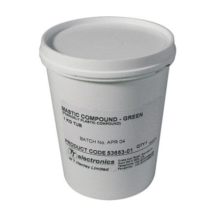 Compound - Green for sealing fittings in damp situation 1Kg tub